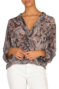 Paisley Cross Front Top