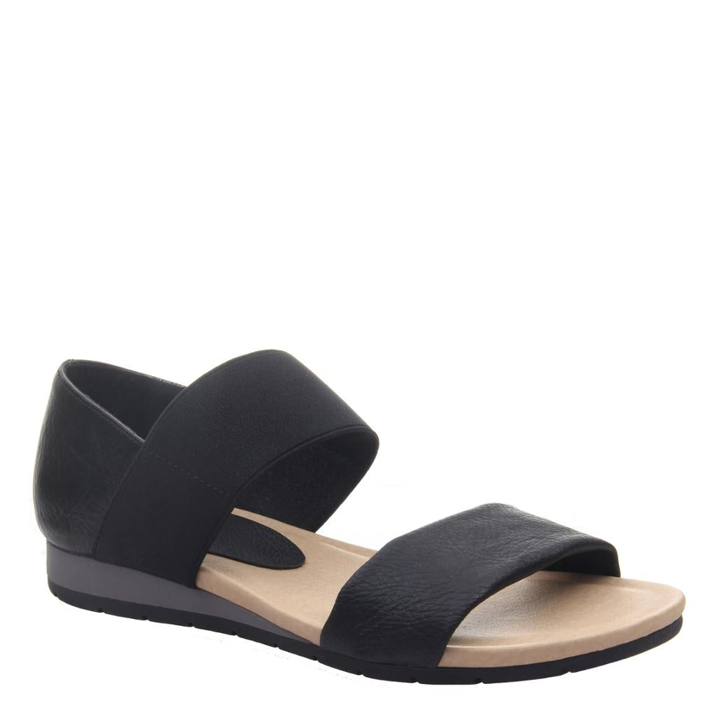 MADELINE - MOTTO in BLACK Flat Sandals