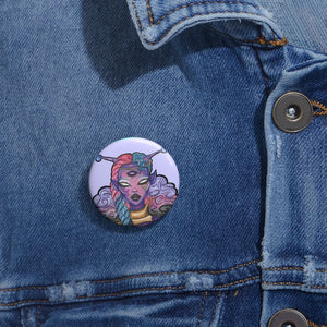 Alien Goddess Button Pins