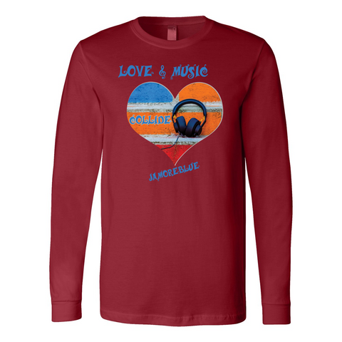 JAMORÉBLUE Music Long Sleeve Jersey Tee
