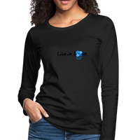 Women's Premium Slim Fit Long Sleeve T-Shirt - black