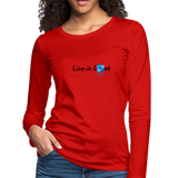 Women's Premium Slim Fit Long Sleeve T-Shirt - red