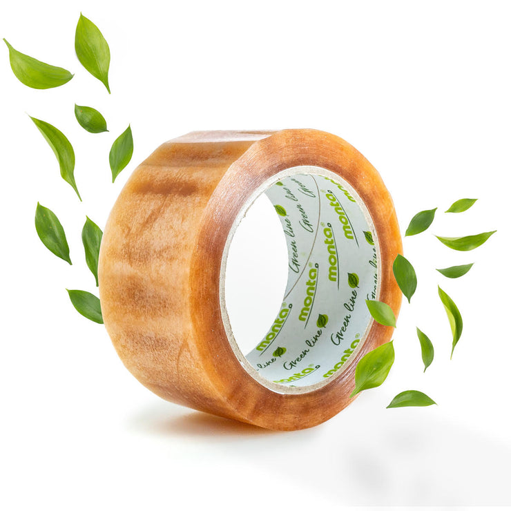 compostable natural adhesive tape ecotape tear by hand australia Heapsgood packaging ecommerce supplies strong 80m double length non toxic biodegradable