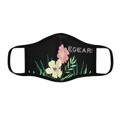 Yellow and Pink Flowers Fitted Polyester Face Mask