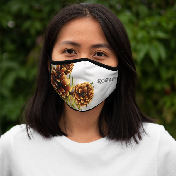 Autumn Pine Cones Fitted Polyester Face Mask
