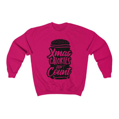 Xmas Calories Don'T Count T-Shirt Design Unisex Heavy Blend™ Crewneck Sweatshirt