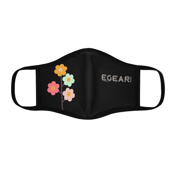 Romantic Flowers Fitted Polyester Face Mask
