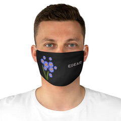 Purple Floral Ornaments Fabric Face Mask