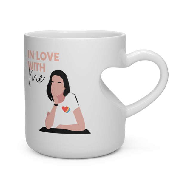 In Love With Me Heart Shape Mug