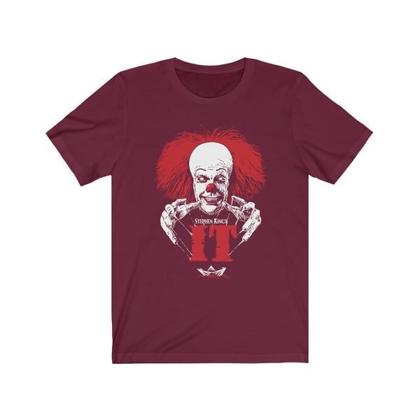 Stephen King's IT Pennywise Horror Unisex Jersey Short Sleeve Tee