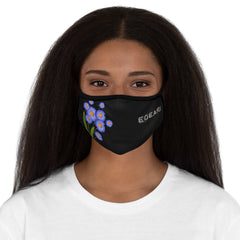 Purple Floral Ornaments Flowers Fitted Polyester Face Mask