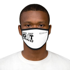 You Just Got Served Mixed-Fabric Face Mask