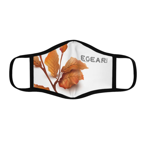 Autumn Leaves Fitted Polyester Face Mask