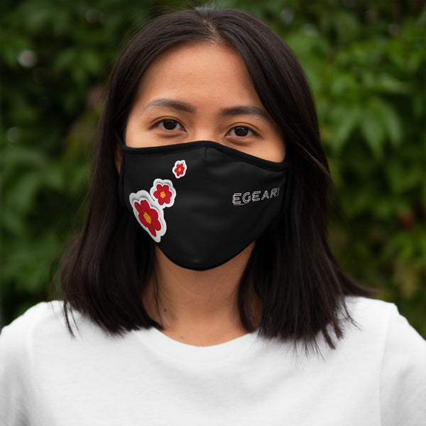 Floral Ornaments Fitted Polyester Face Mask