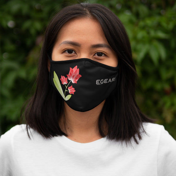 Pink  Floral Ornaments Flowers Fitted Polyester Face Mask