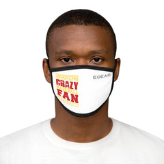 Warning Crazy Baseball Fan Approaching Mixed-Fabric Face Mask