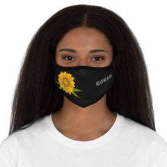 Autmn Flower Fitted Polyester Face Mask