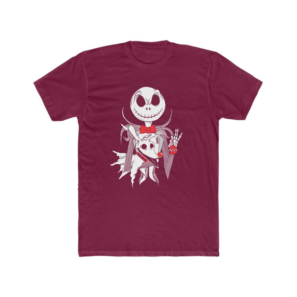 Nightmare Before Christmas Pup-py Zero and Jack Men's Cotton Crew Tee
