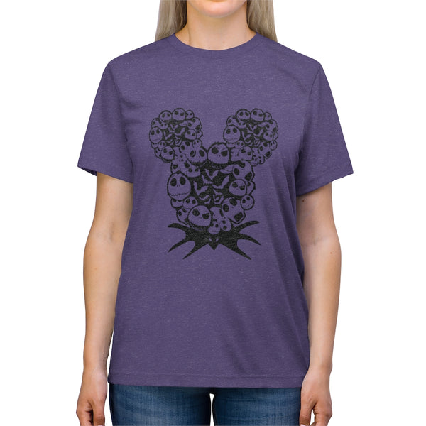 Nightmare Before Christmas Mickey Jack Head Unisex Triblend Tee