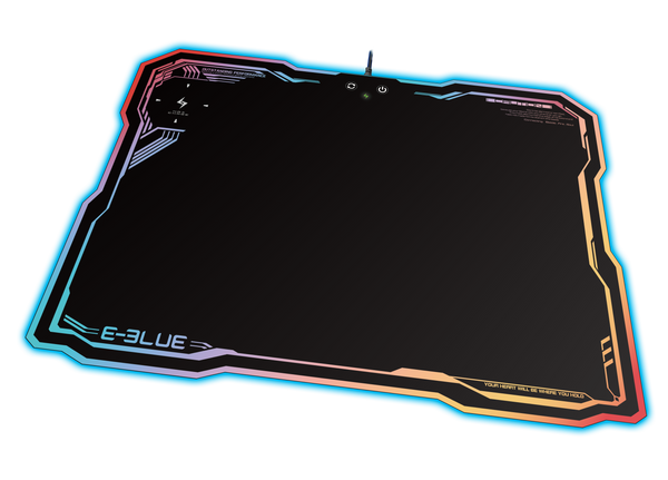 E-Blue Auroza EMP013BK RGB Gaming Mouse Pad with wireless and USB Rechargeable