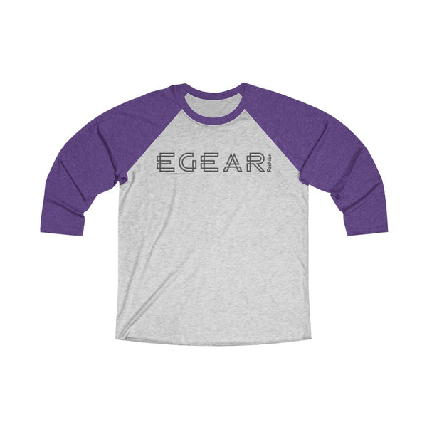 EGear Fashion Long Sleeve Unisex Tri-Blend 3/4 Raglan Tee