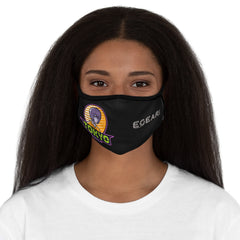 Tokyo Lights Fitted Polyester Face Mask