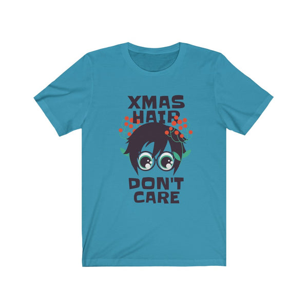 XMas Hair Don't Care Unisex Jersey Short Sleeve Tee