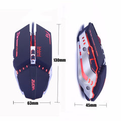 ZUOYA Professional Wired Gaming Mouse 7 Button LED Optical USB Computer Gamer Mice Game Mouse Cable Mause For PC Laptop