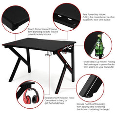 Mordern Bedroom Gaming Laptop Desk Gamers Computer Table E-Sports K-Shaped With Cup Holder Hook Home Office Furniture