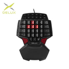Delux T9 Wired Single-handed Gaming Keyboard Ergonomic Design Single handed keyboard Gamepad  gaming keypad
