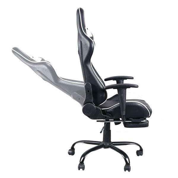 Black & White High Back Swivel Chair Racing Gaming Chair