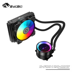 Bykski PC Case Water Cooling Kit 120mm Fan Heatsink Integrated CPU cooler Fan Radiator Pump + CPU Block + Fan Cooling Building