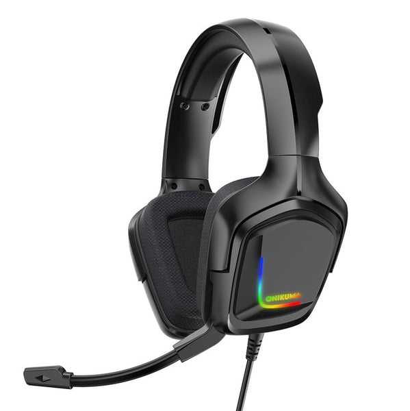 K20 RGB Gaming Headset Headphone with Microphone LED Light Surround Sound Bass PC Gamer Headphone for Xbox One PS4 Phone Laptop
