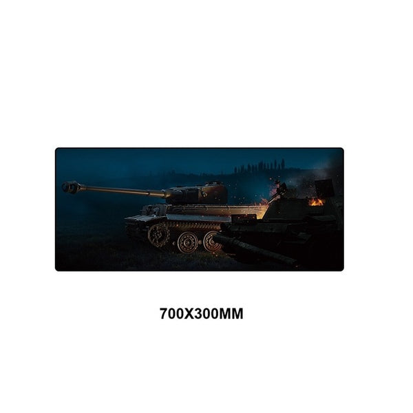 World of Tanks full desktop coverage gaming mouse pad