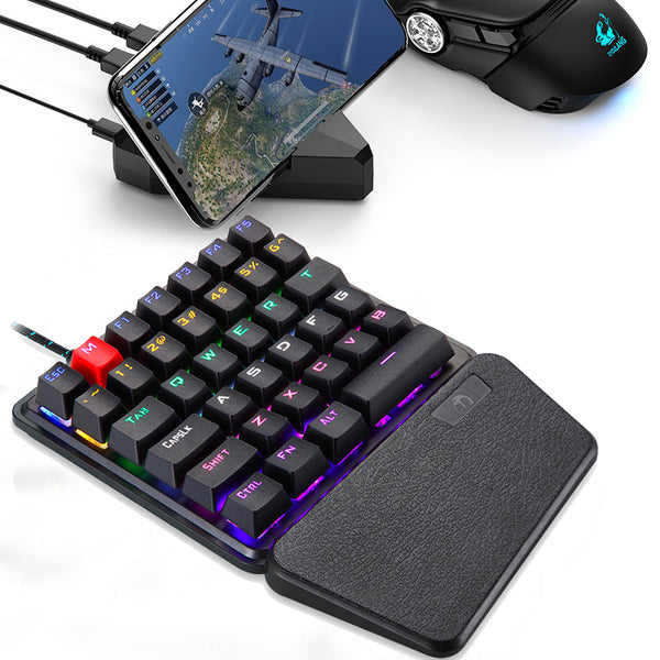 One-handed Mechanical Gaming Keyboard Left-handed Keypad for Mobile Phone PUBG Gamer