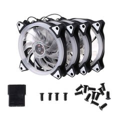 BGEKTOTH Computer Case Fan 120mm LED/RGB Silent Fan for Computer Cases, CPU Coolers, and Radiators Ultra Quiet (1SET)