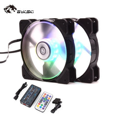 Bykski Pc Case Fan Adjust RGB Cooling Fan 120mm Quiet Remote Computer Cooler Cooling Light LED 5V A-RGB Case Fan CPU PC