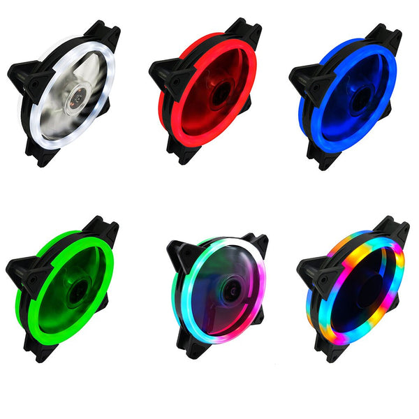 ELENXS Computer Case Fan 120mm LED/RGB Silent Fan for Computer Cases, CPU Coolers, and Radiators Ultra Quiet (1PC)