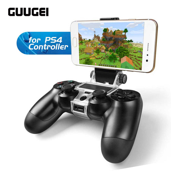 GUUGEI Cellphone Clamp Mobile Phone Gaming Clip Holder For PS4 Game Controller SLIM PROPS4 DualShock 4 Game Adjustable Stojak