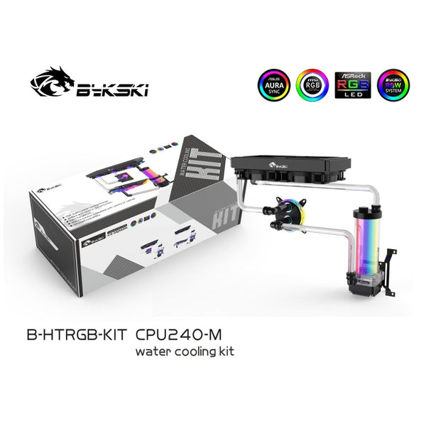 Bykski B-HTRGB-KIT PC Water Cooling Kit CPU GPU Hard Tube Split Set Basical Radiator Advanced Program Kits 5V 12V RGB Lighting
