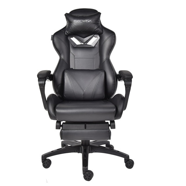 ELECWISH Massage Racing Gaming Chair Adjustable Recliner