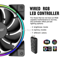 Pcooler 3/Pack 120m RGB Fan 5V 3pin FRGB PWM Quiet Addressable Fans 12cm Computer Cooling Fan For CPU Cooler Liquid Cooling