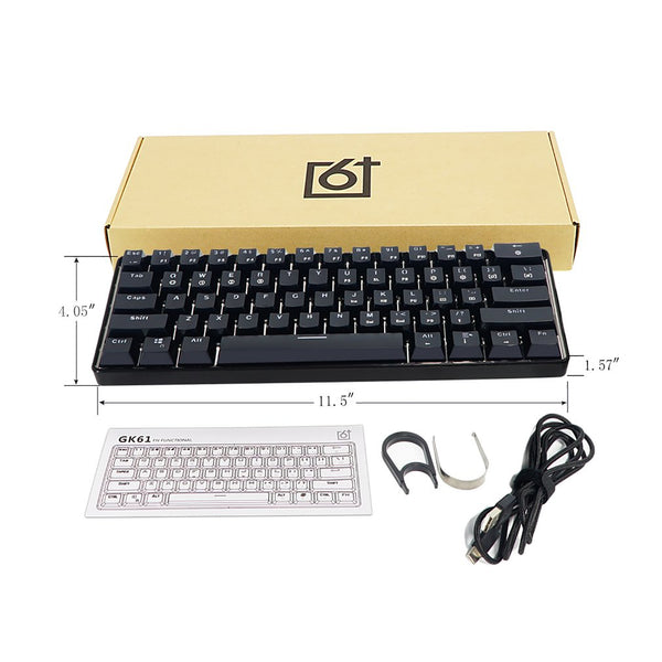 GK61 Swappable 60% RGB Keyboard Customized Kit PCB Mounting Plate Case Gamer Mechanical Feeling Keyboard