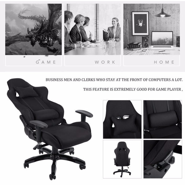 Ergonomic High Back Racing Chair Adjustable Fabric Executive Computer Chair Revolving gamer