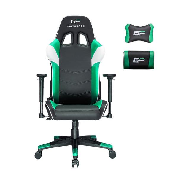 Green/Black Victorage computer game chair racing chair