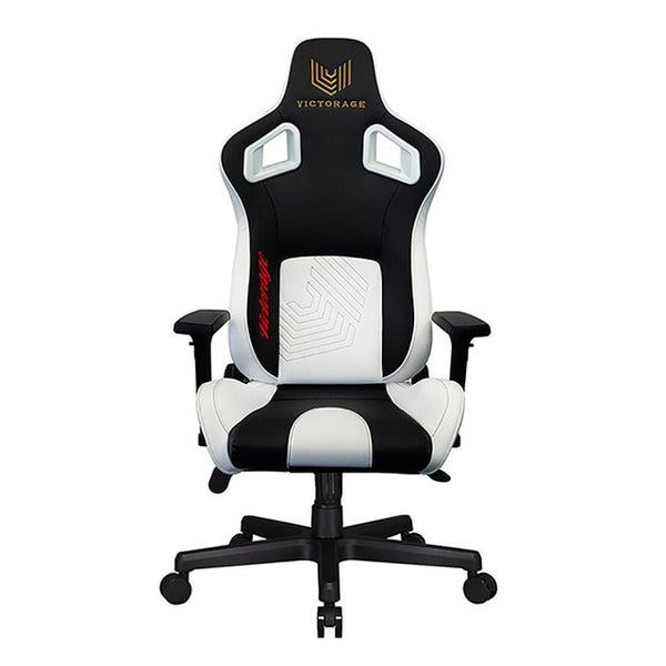 VICTORAGE Delta VC Series Premium PU Leather Home Chair Gaming Chair(White/Black)