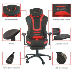 Black & Red 360 Degree Swivel Chair, Gaming Chair, And Ergonomic Office Chair