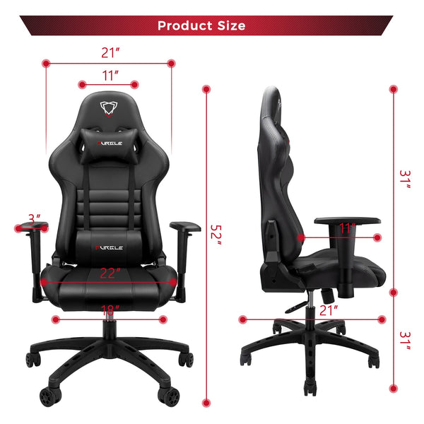 Furgle Black Ergonomic Pro Gaming & Office Chair
