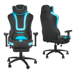 This Eclife automotive style gaming chair is designed for a pleasant gaming experience, it is an ideal seat for work, study and play.