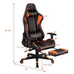 Reclining Gaming Chair With Footrest Lifted Rotated E-sports Gaming Chair Household Multi-function Computer Chair With Massage